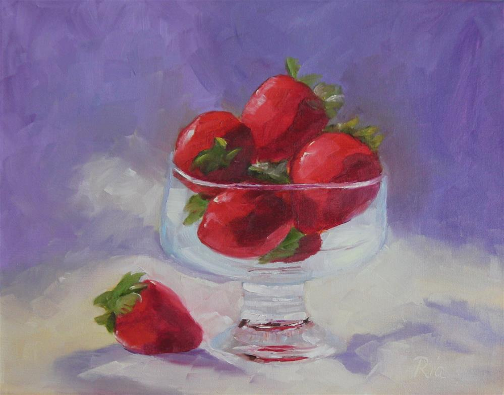 """Fraises Royales"" original fine art by Maria Reed"