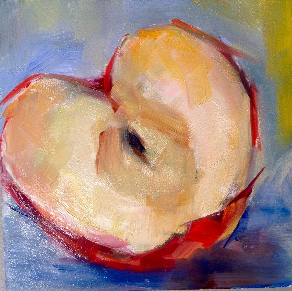 """""""small apple study #1"""" original fine art by Sue Churchgrant"""