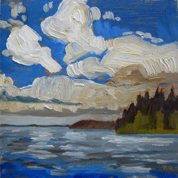 """Thomson Clouds"" original fine art by Nicki Ault"