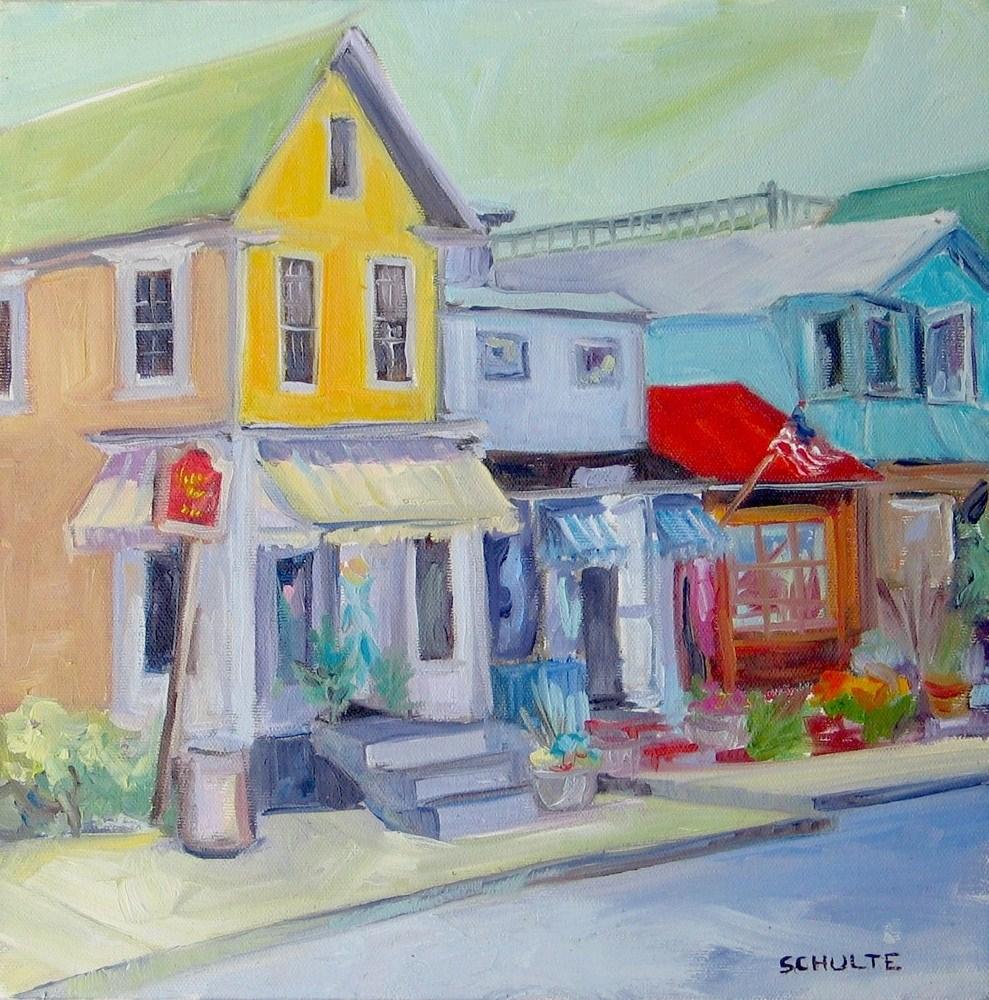 "Framed ""Welcome to Bearskin Neck"" original fine art by Lynne Schulte"