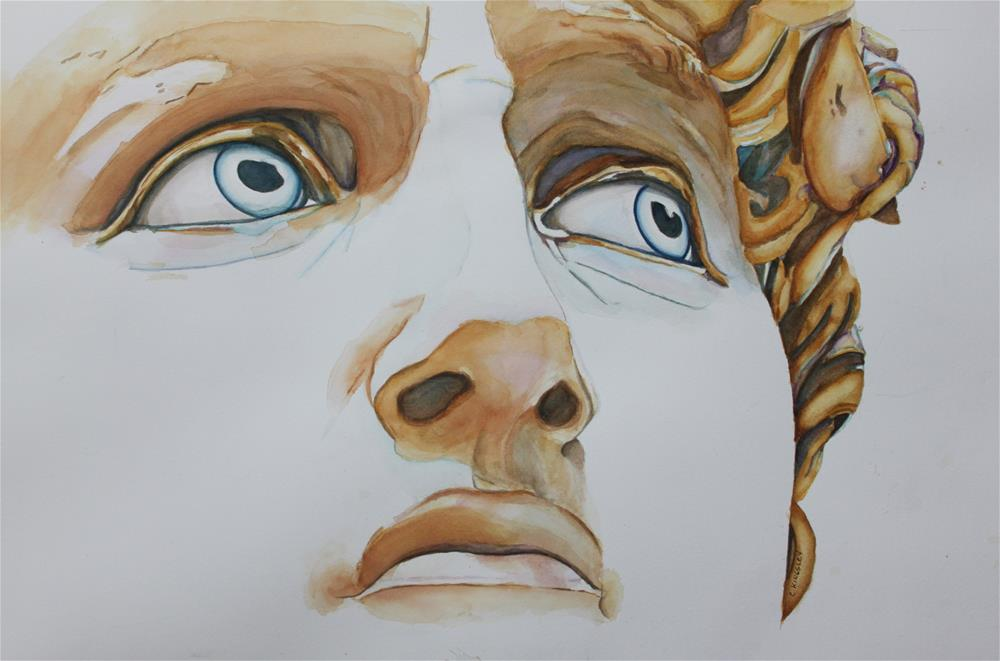 """Those Eyes- Michelangelo's David"" original fine art by Christiane Kingsley"