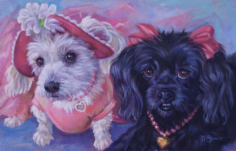 """Frangelica and Sambucca"" original fine art by Deborah Savo"