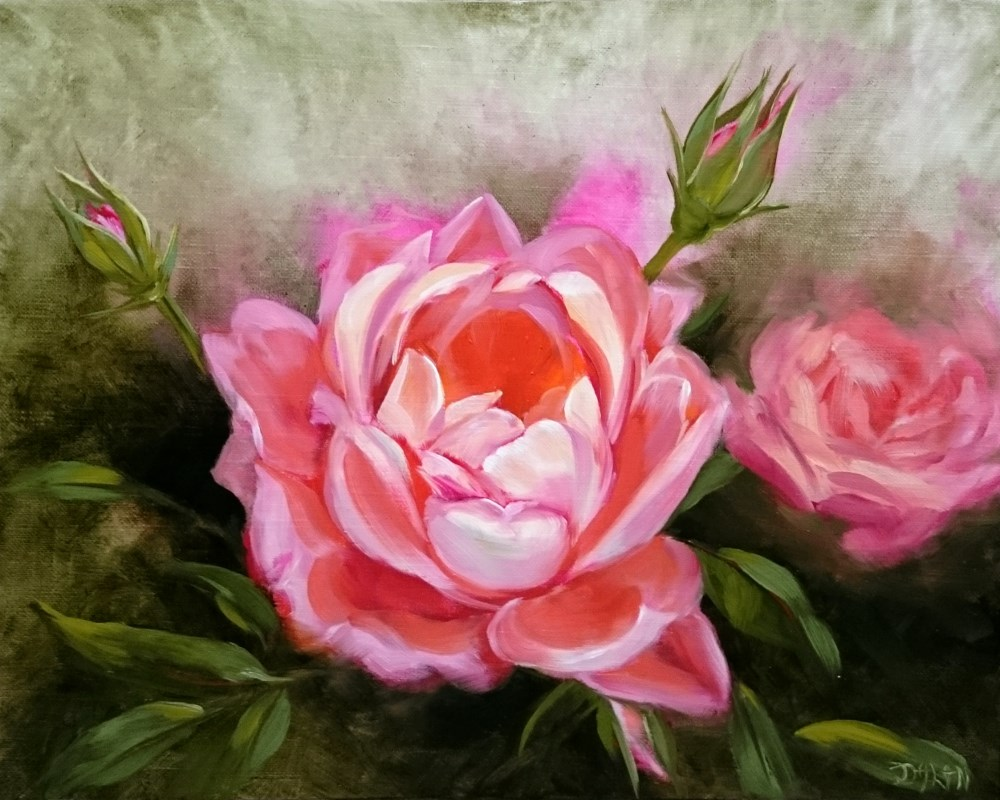 """Rosy Glow"" original fine art by Dalan Wells"