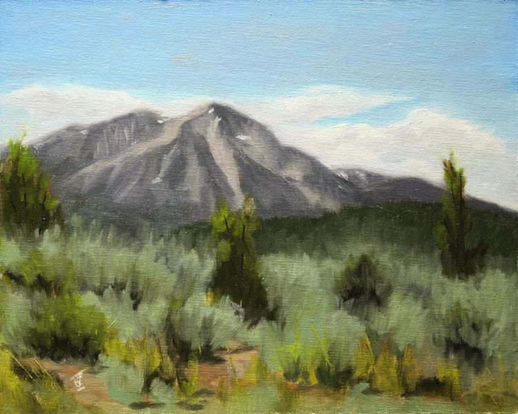 """Sopris Summer"" original fine art by Jane Frederick"
