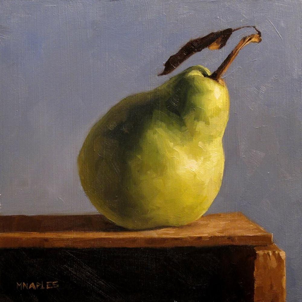 """Pear on Shelf No. 2"" original fine art by Michael Naples"