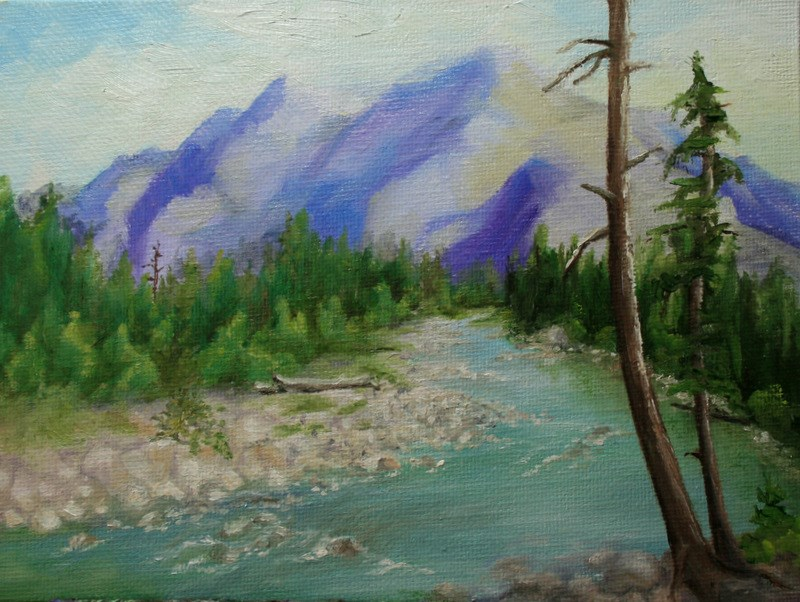 """Cle Elum River"" original fine art by Jean Nelson"