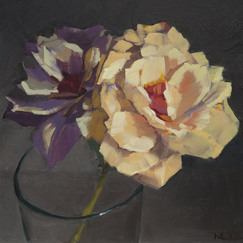 """Roses"" original fine art by Miriam Hill"