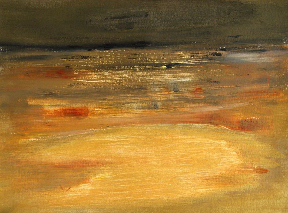 """Sandy Beach Abstract"" original fine art by Alina Frent"