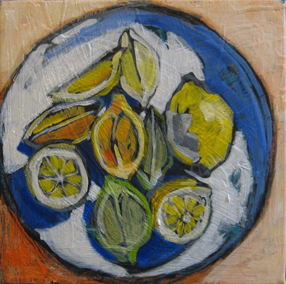 """""""4 O'clock Fruit"""" original fine art by Kristina Davidson"""