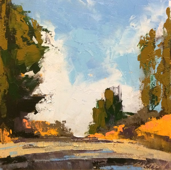 """The Bluff Road, Winter"" original fine art by Mary Gilkerson"