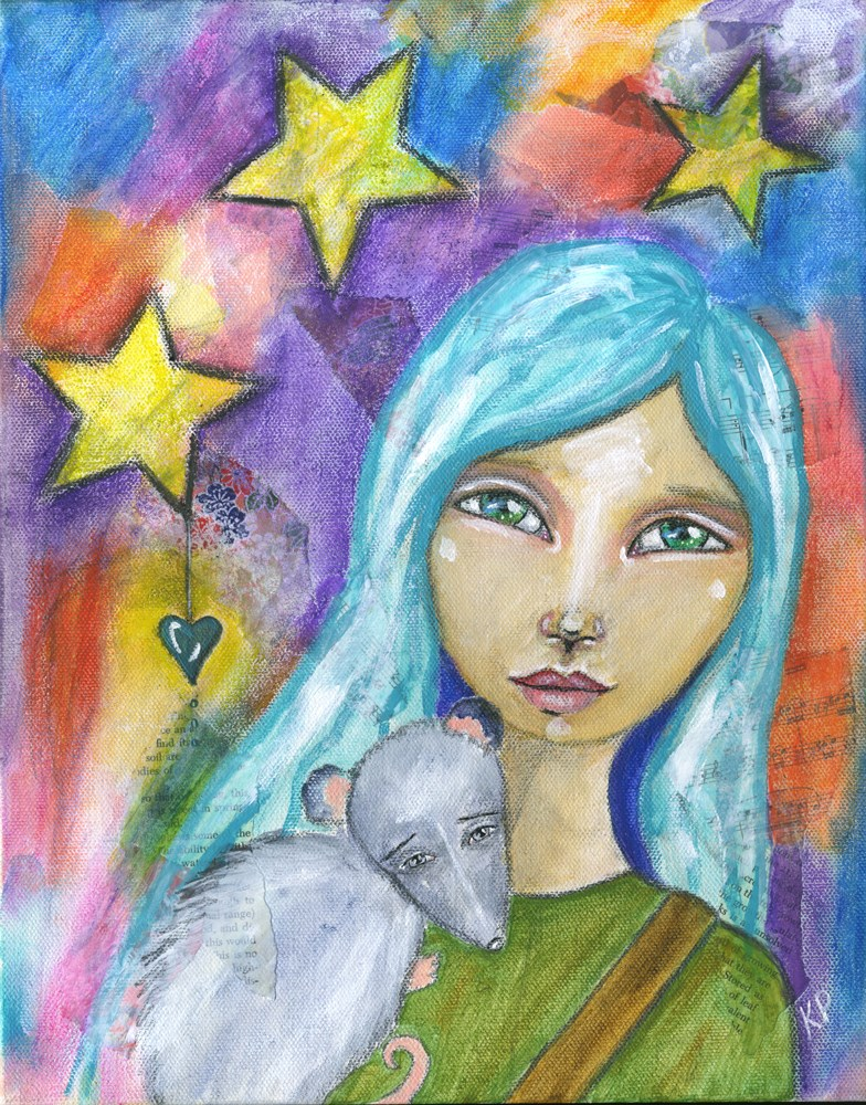 """Travelers"" original fine art by Kali Parsons"