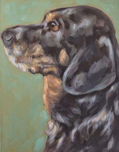 """Miss Mandy"" original fine art by Kathy Hiserman"
