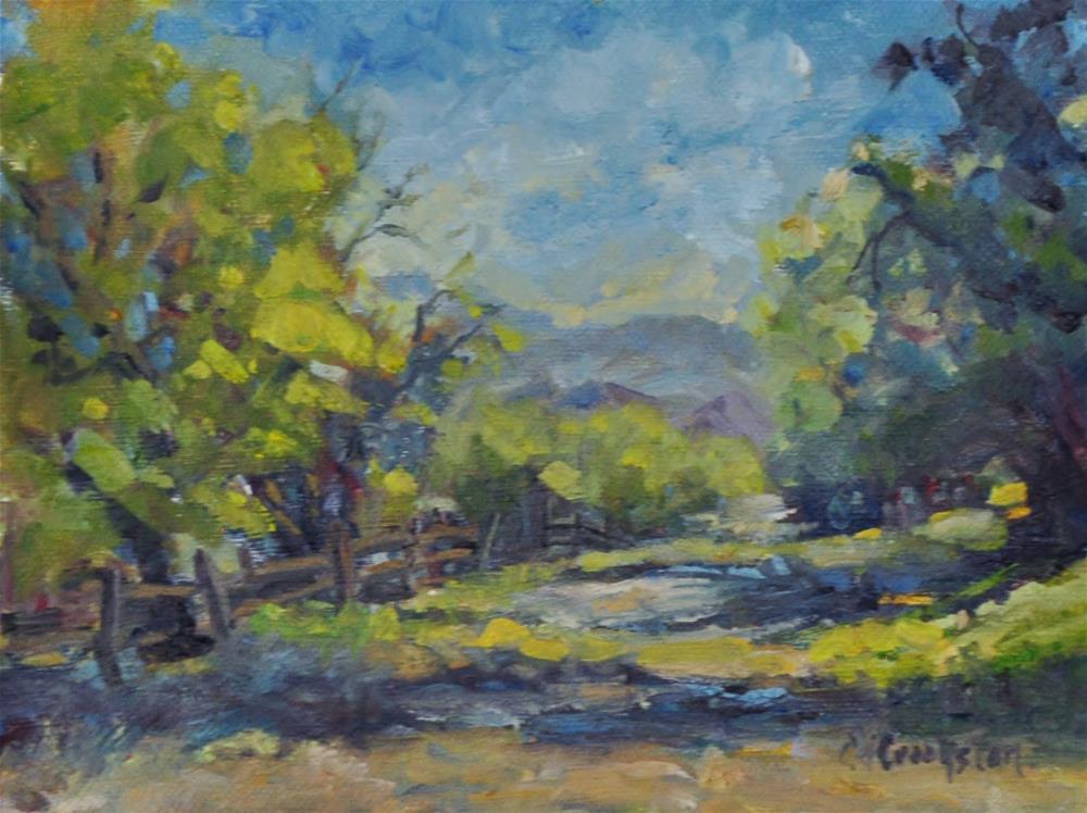"""Shadow Path"" original fine art by Catherine Crookston"
