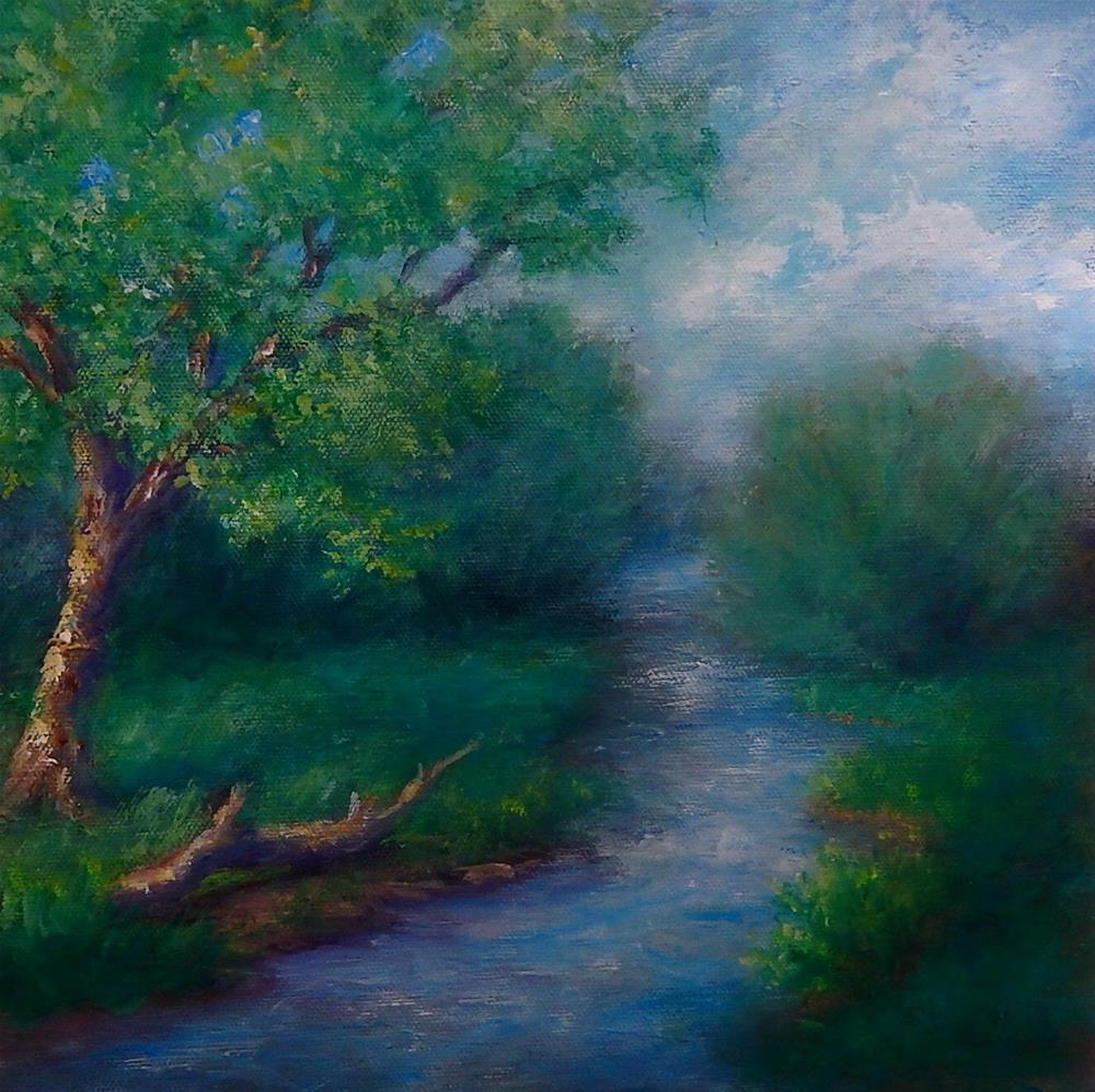 """Sparkling Stream"" original fine art by Sharon Kay Baker"