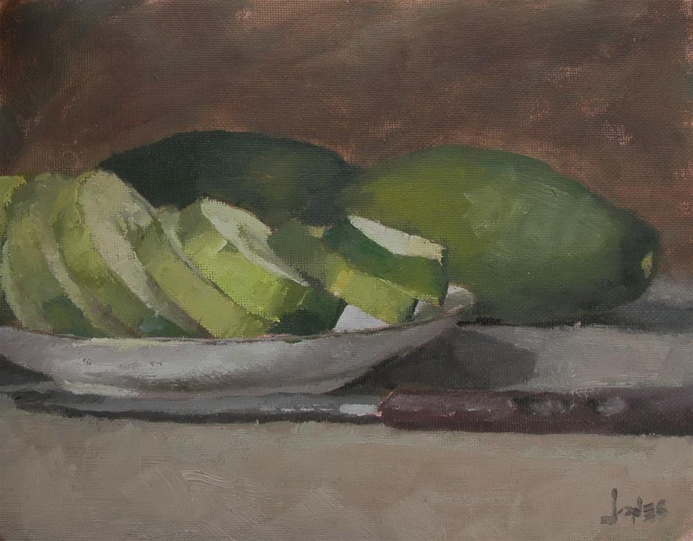 """Cucumbers"" original fine art by Richard Jones"