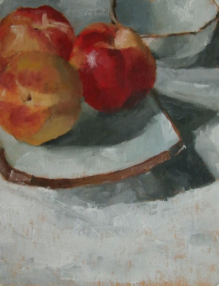 """Nectarines"" original fine art by Richard Jones"