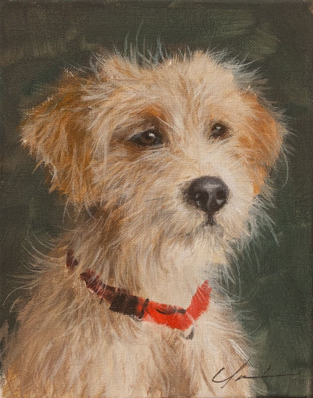 """PAINT MY DOG! #21"" original fine art by Clair Hartmann"