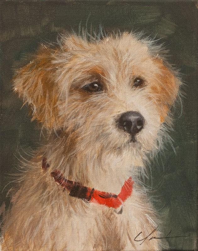 """PAINT MY DOG! #21"" original fine art by Clair Hartmann"