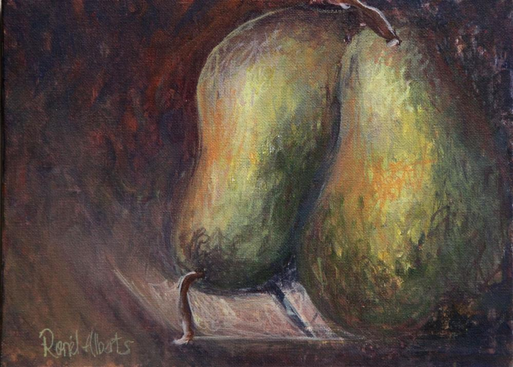 """Juicy pears"" original fine art by Ronel Alberts"