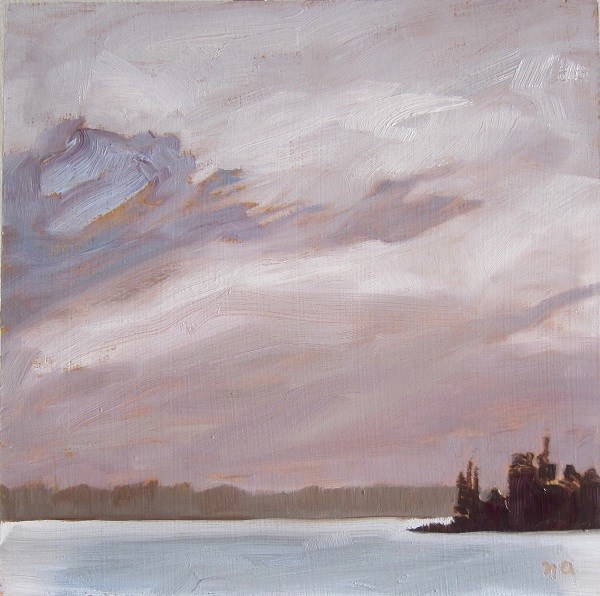 """Gray Skies Over Fairy Island"" original fine art by Nicki Ault"