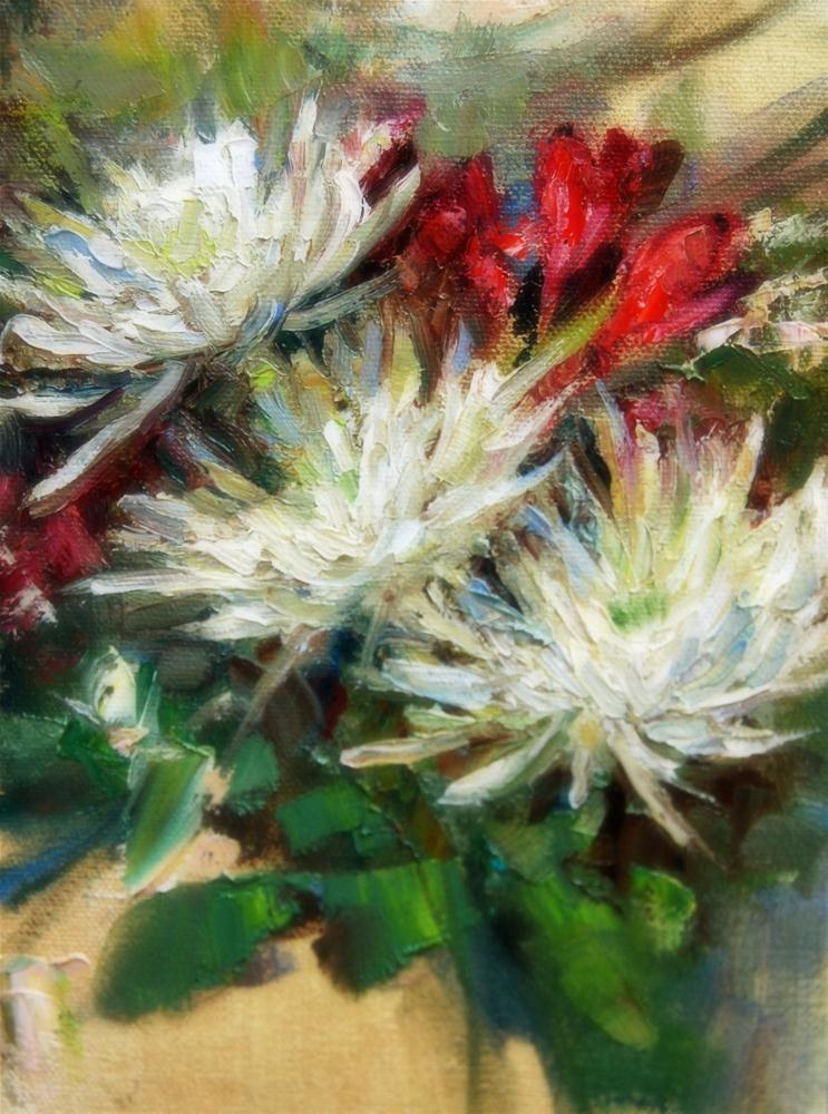 """Spider Mum Study"" original fine art by Julie Ford Oliver"