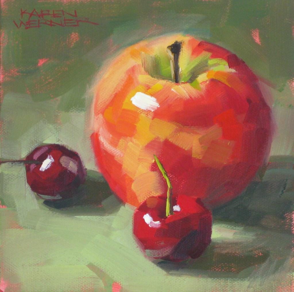 """""""Familiar Fruit"""" original fine art by Karen Werner"""