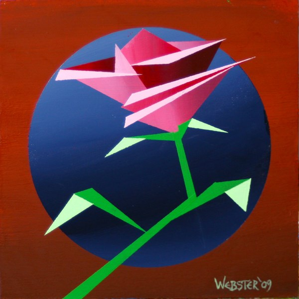 """Mark Webster - Abstract Geometric Rose #2 Acrylic Painting"" original fine art by Mark Webster"