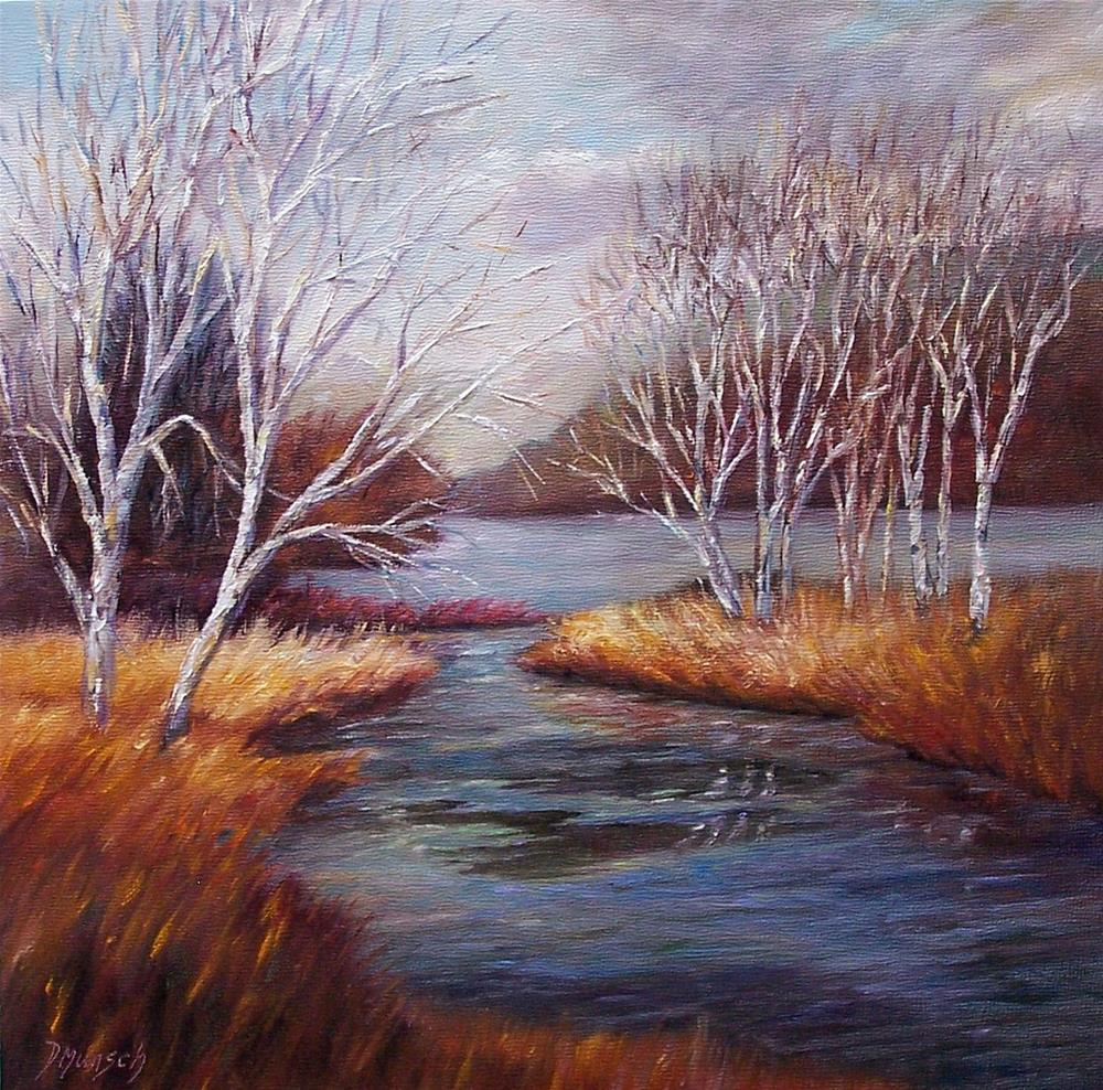 """Birch Trees Unite"" original fine art by Donna Munsch"