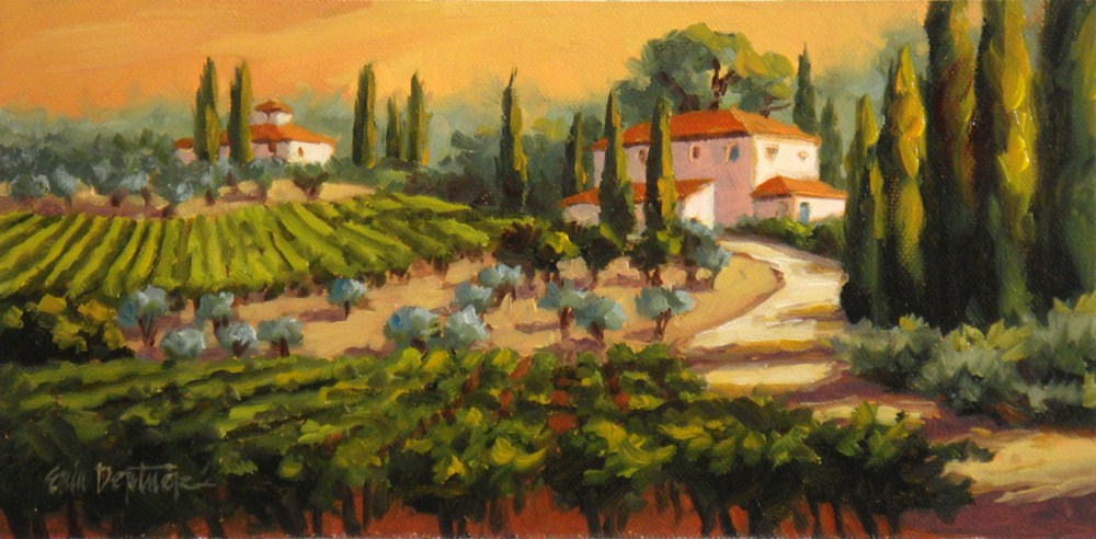 """Tuscan Glory"" original fine art by Erin Dertner"