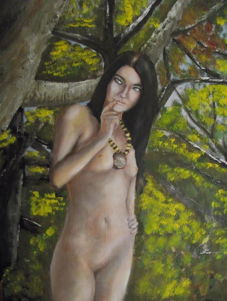 """Nude in Forest"" original fine art by Daniel Varney"