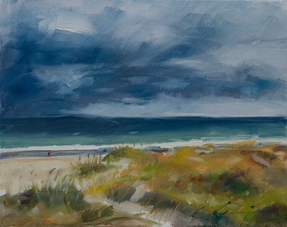 """Ocean Storm"" original fine art by Clair Hartmann"