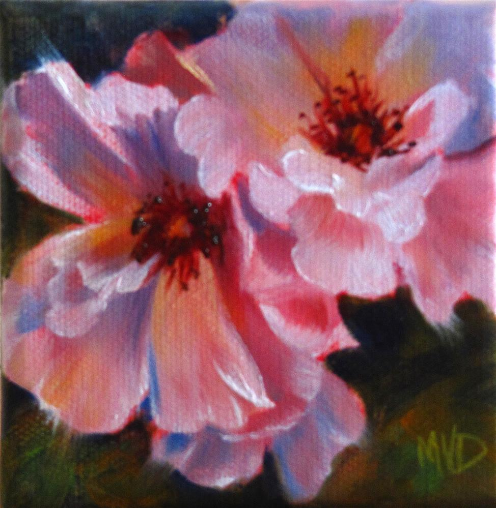 """Wild Roses"" original fine art by Mary  Van Deman"