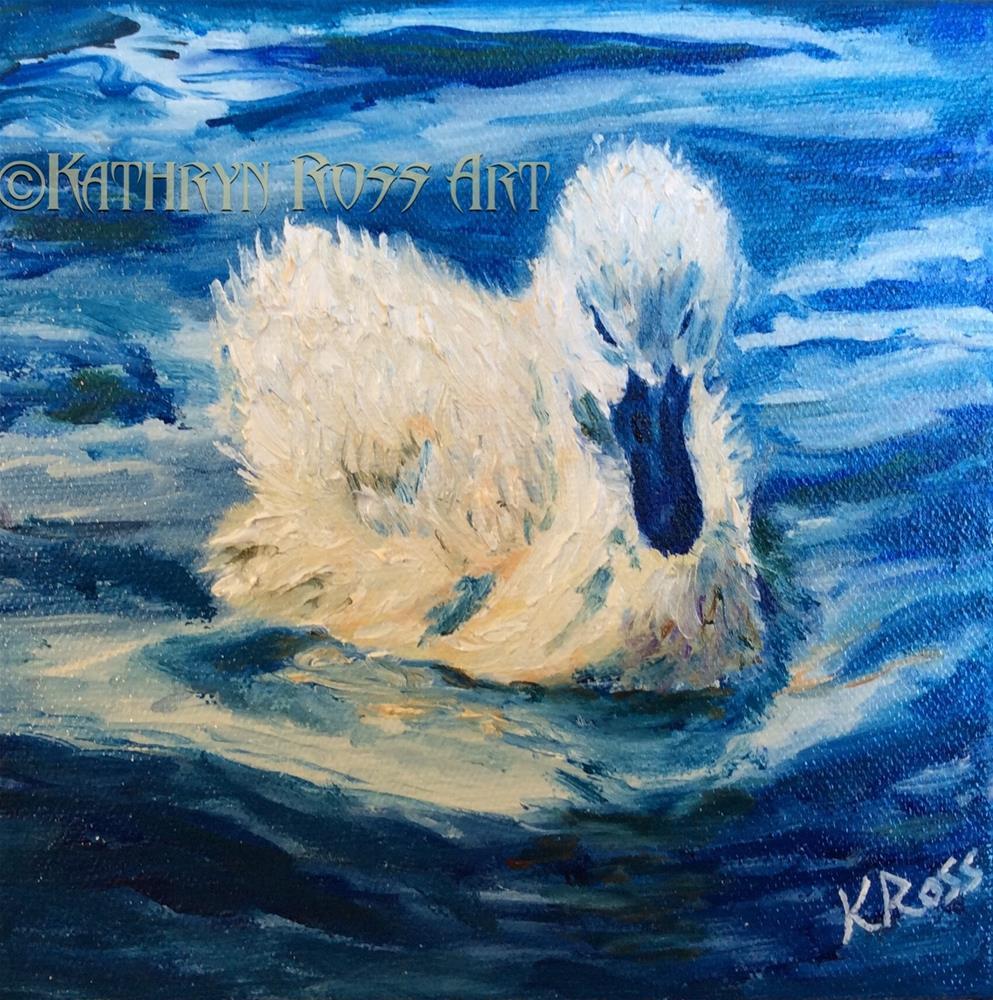 """""""Swan baby"""" original fine art by Kathryn Ross"""