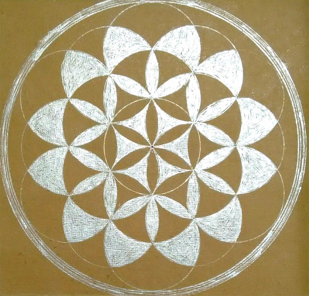 """Silver Mandala"" original fine art by Adéla Svobodová"