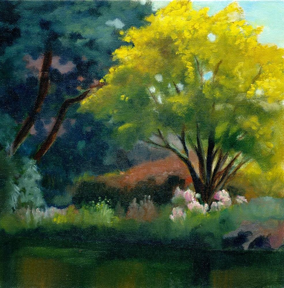 """Golden Tree"" original fine art by Christine Derrick"
