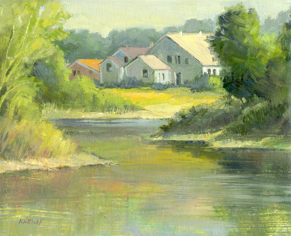 """Morning at the Ponds"" original fine art by Kath Reilly"