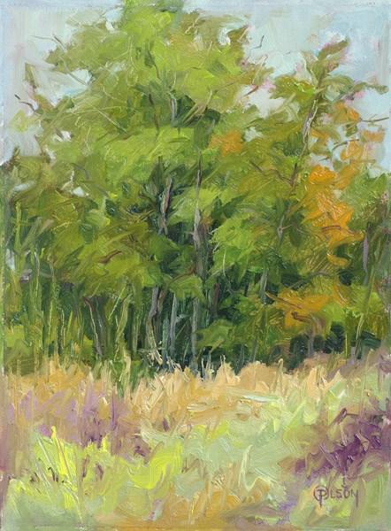 """""""late green"""" original fine art by Priscilla Olson"""
