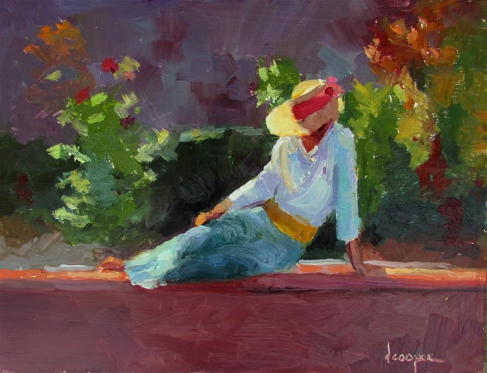 """Lost In Thought"" original fine art by Dana Cooper"
