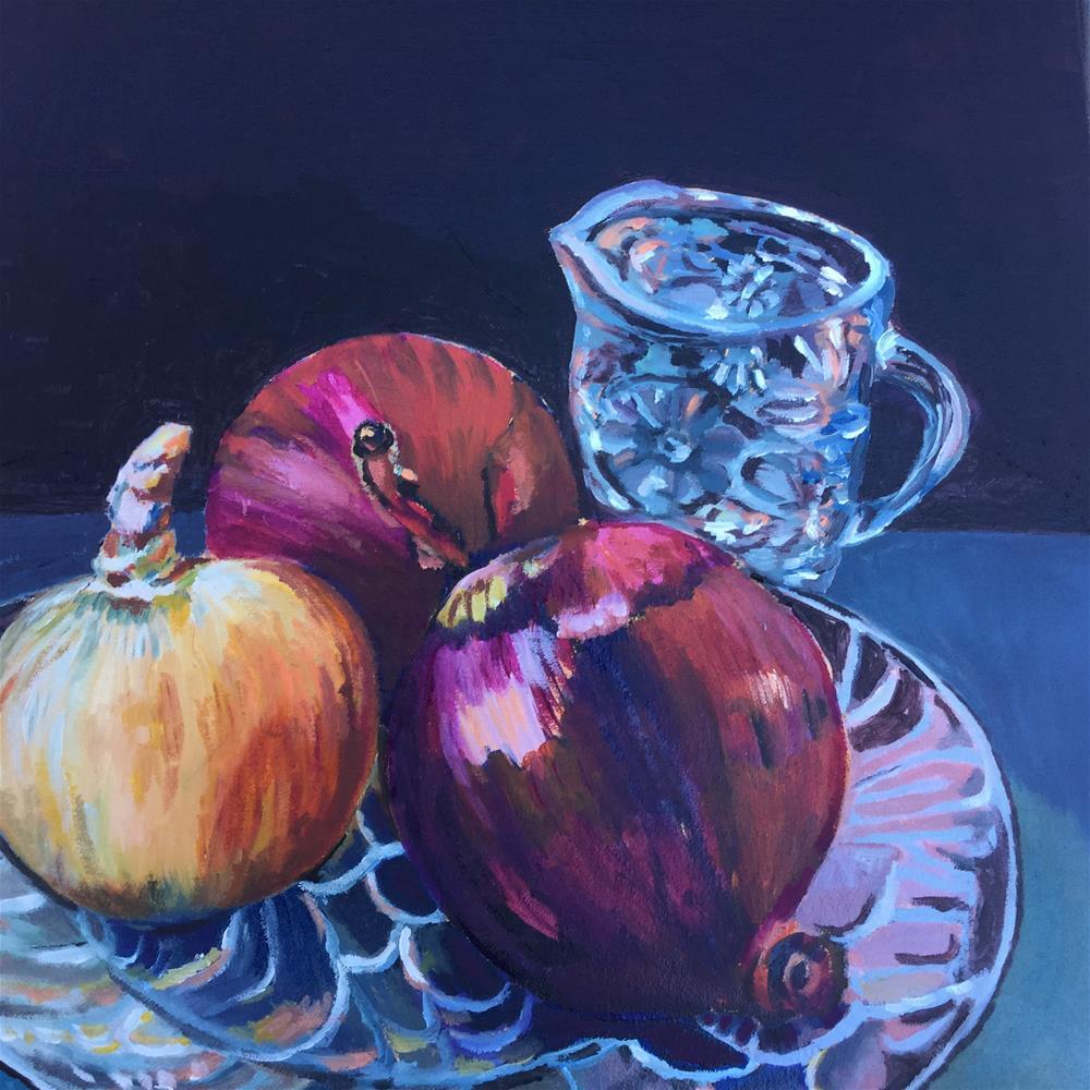 """Onions"" original fine art by Carla Lizarraga"