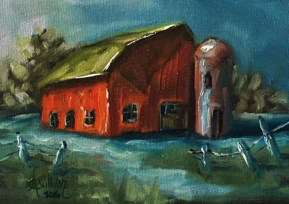 """Blue Skies landscape painting by Alabama Artist Angela Sullivan"" original fine art by Angela Sullivan"
