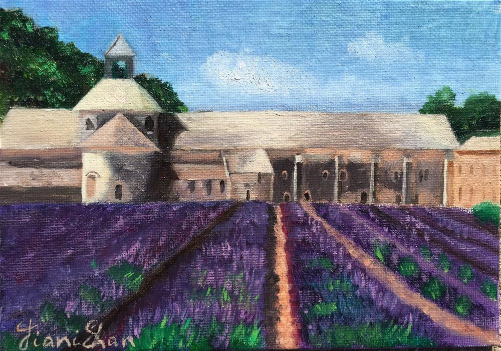 """Lavender Field in Provence"" original fine art by Jiani Shan"