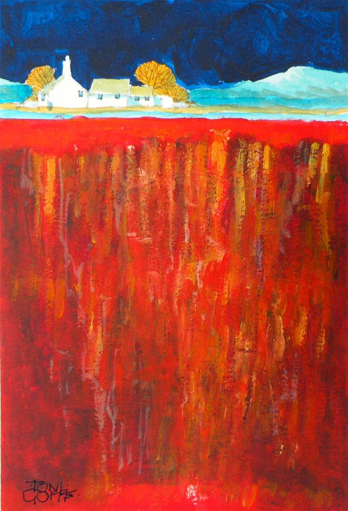 """Clifftop Home"" original fine art by Toni Goffe"
