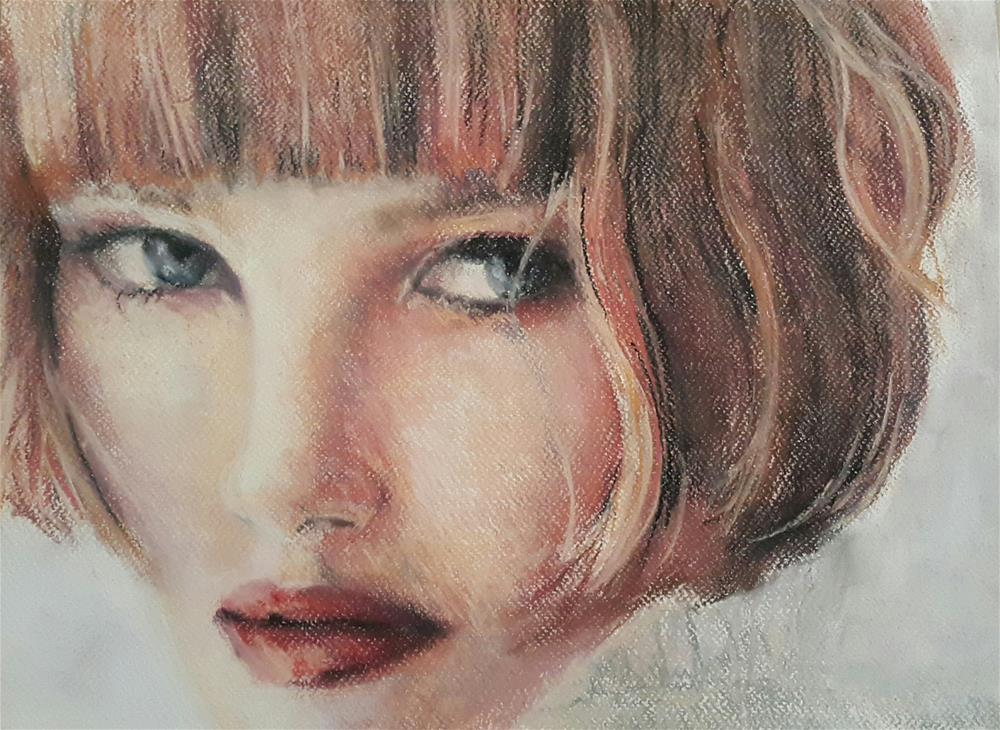 """Redhead"" original fine art by Rentia Coetzee"