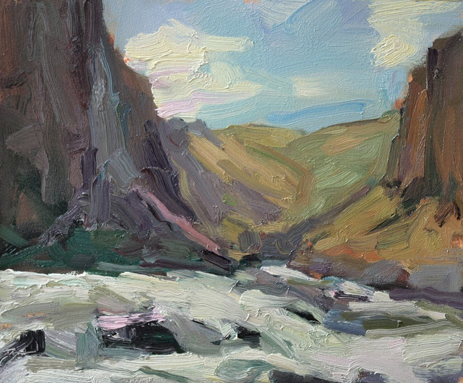 """Upper Palouse Falls"" original fine art by Kathryn Townsend"