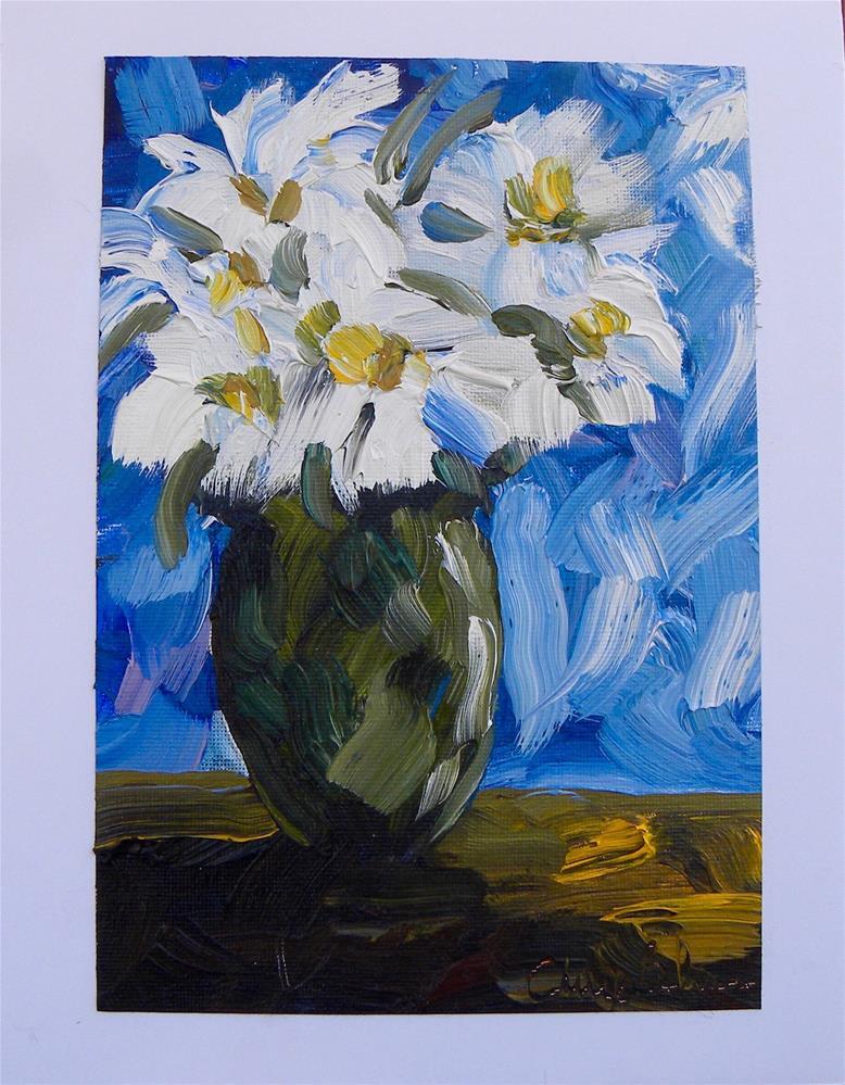 """Flowers in Blue"" original fine art by cheryl buhrman"