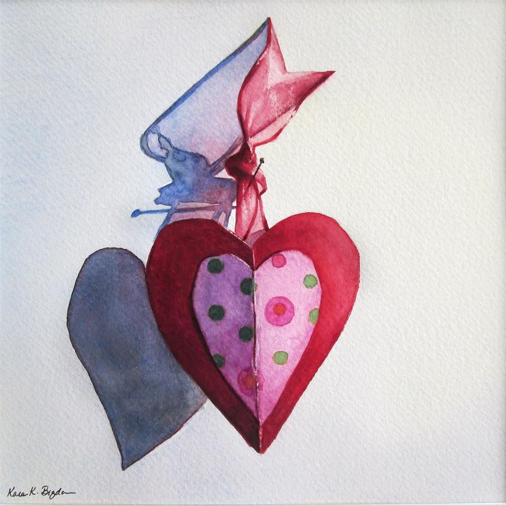 """Paper Heart No. 1"" original fine art by Kara K. Bigda"