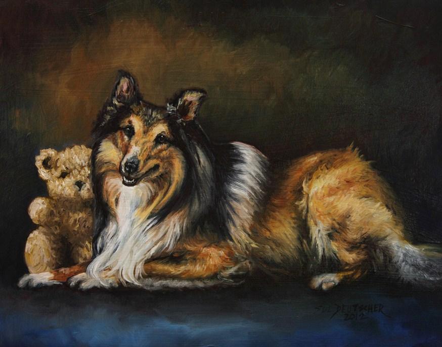 """""""Collie"""" original fine art by Sue Deutscher"""