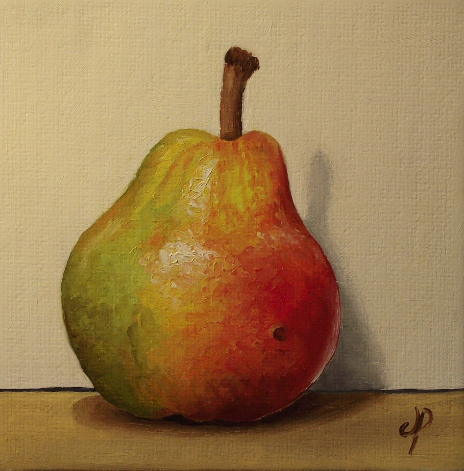 """Small Blush pear"" original fine art by Jane Palmer"