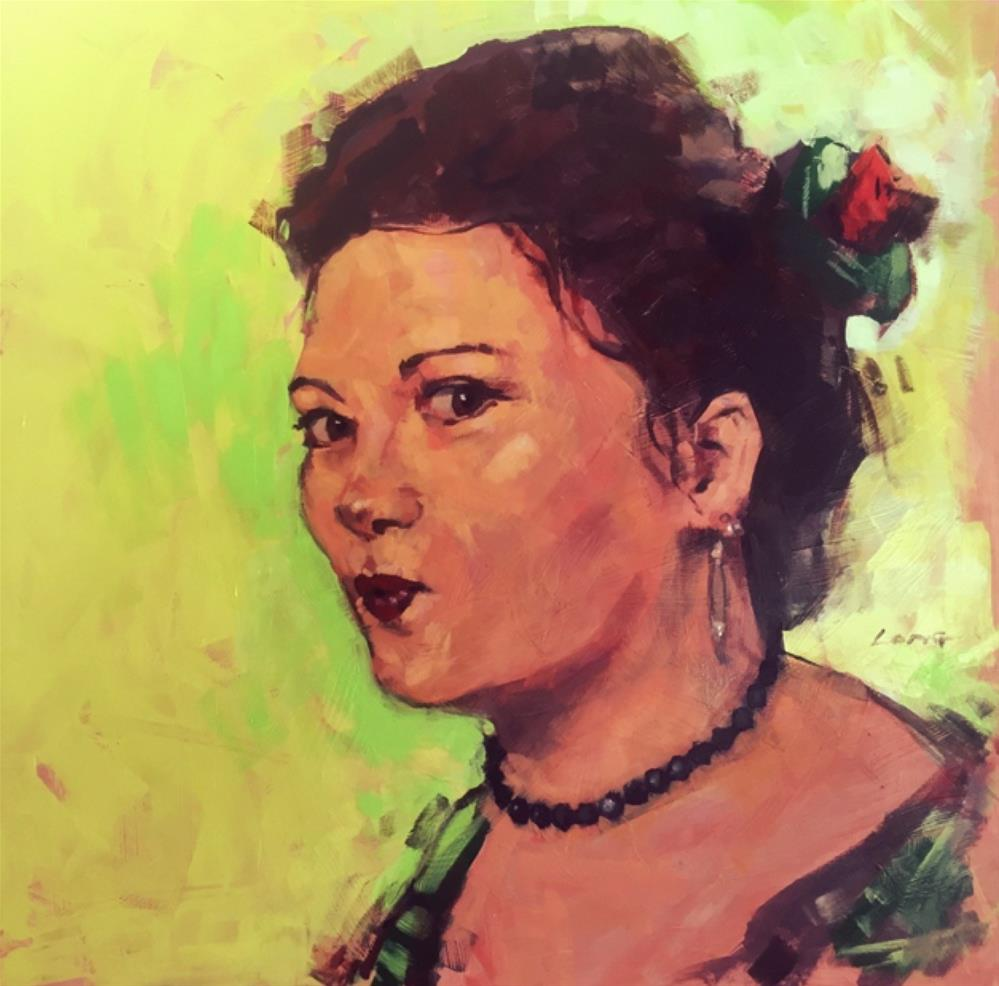 """""""Jeanna"""" original fine art by Chris Long"""
