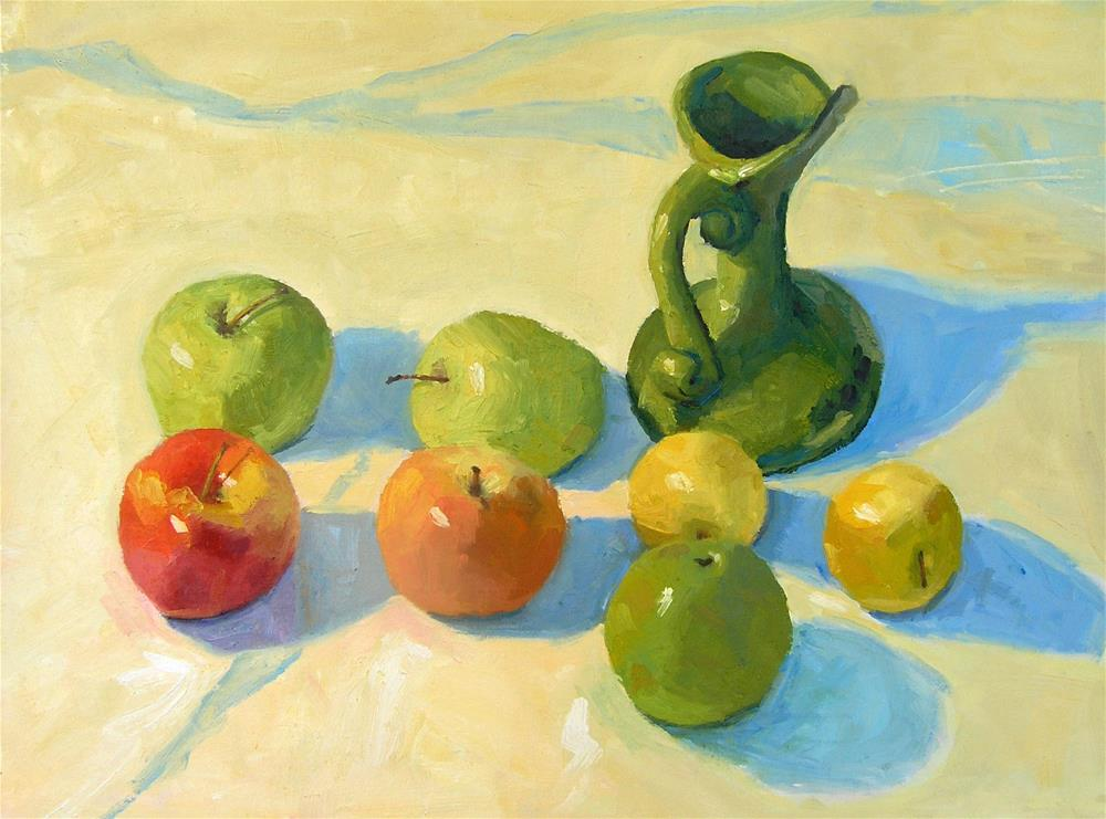 """Desert Apples"" original fine art by Nina Brodsky"